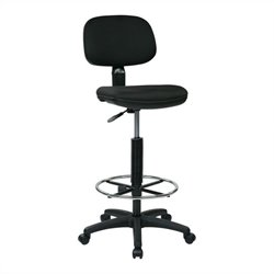 Office Star DC Series Sculptured Back Drafting Chair in Black