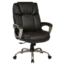 Office Star ECH Series Executive Eco Leather Office Chair in Espresso