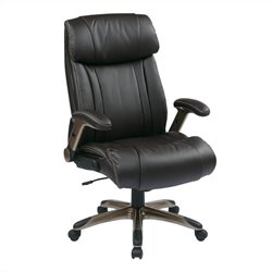 Office Star ECH Series Eco Leather Office Chair in Cocoa and Espresso