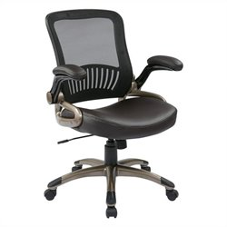 Office Star EM Series Screen Back Office Chair in Espresso