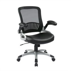 Office Star EM Series Screen Back Office Chair in Black
