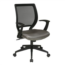 Office Star EM Series Screen Back Task Office Chair with T Arms in Grey