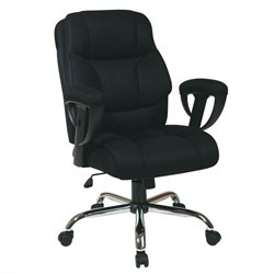 Office Star Executive Office Chair with Adjustable Arms in Black