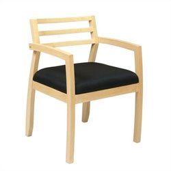 Office Star Napa Guest Chair With Wood Back in Maple