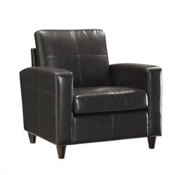 Office Star Eco Leather Club Chair in Espresso