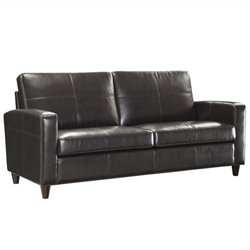 Office Star Eco Leather Sofa in Espresso