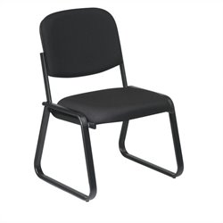 Office Star Deluxe Sled Base Armless Chair in Black