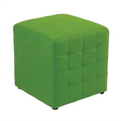 Office Star Detour Fabric Ottoman Cube in Green