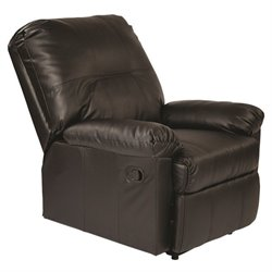 Office Star Kensington Recliner in Black