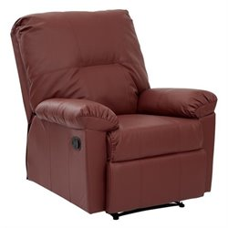 Office Star Kensington Recliner in Crimson Red