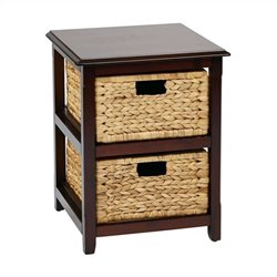 Office Star Seabrook Two Tier Storage Unit in Espresso