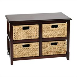 Office Star Seabrook Four Drawer Storage Unit in Espresso