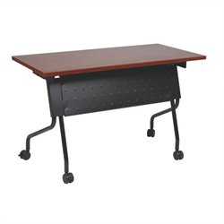 Office Star Training Table in Black and Cherry