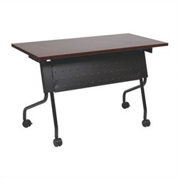 Office Star Training Table in Black and Mahogany