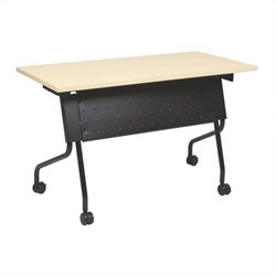 Office Star Training Table in Black and Maple