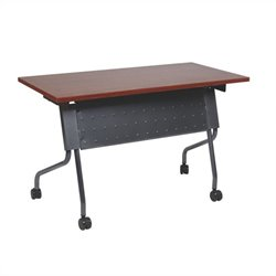 Office Star Training Table in Titanium and Cherry