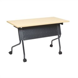 Office Star Training Table in Titanium and Maple
