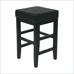 Office Star Metro Square Stool in Black