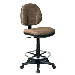 Office Star DC Series Drafting Chair with Stool Kit in Nugget