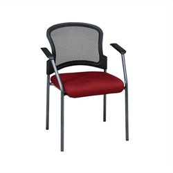 Office Star ProGrid Contour Back Guest Chair with Arms in Paris