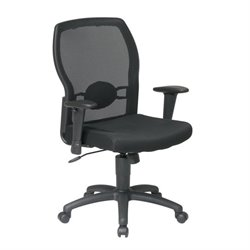 Office Star Work Smart Mesh Back Chair in Black