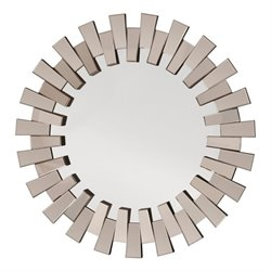 Office Star Apollo Round Wall Mirror