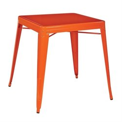 Office Star Paterson Metal Table in Orange