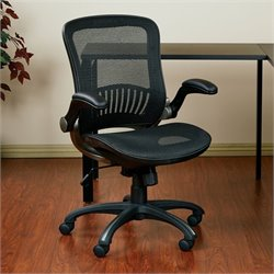 Office Star Work Smart Black Office Chair with Titanium Finish