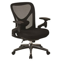 Office Star ProGrid Mesh Seat Office Chair in Black