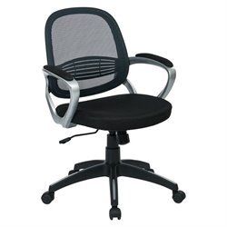 Office Star Bridgeport Mesh Back Office Chair in Grey