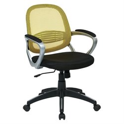 Office Star Bridgeport Mesh Back Office Chair in Yellow