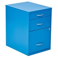 Office Star 3 Drawer Filing Cabinet in Blue