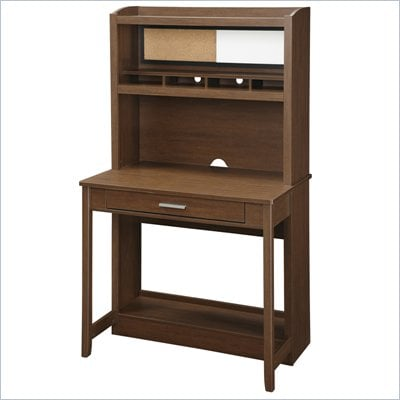 Office Star Alden Workstation in Light Old Wood Finish