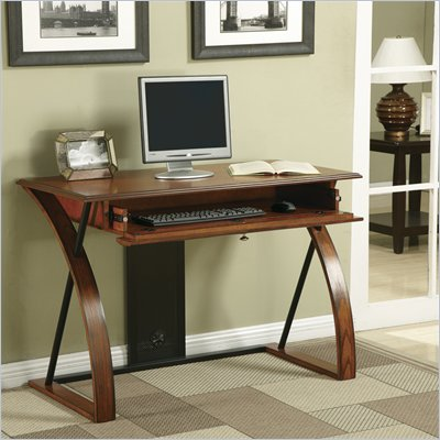 Office Star Aurora Computer Desk in Medium Oak