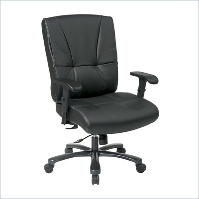 Office Star Big and Tall Deluxe Executive Black Chair with Mid Tilt