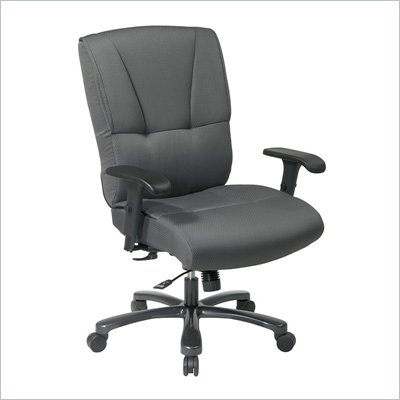 Office Star Big and Tall Deluxe Grey Executive Chair with Mid Tilt