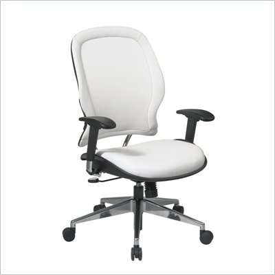 Office Star 33 White Vinyl Back &amp; Seat Managers Chair