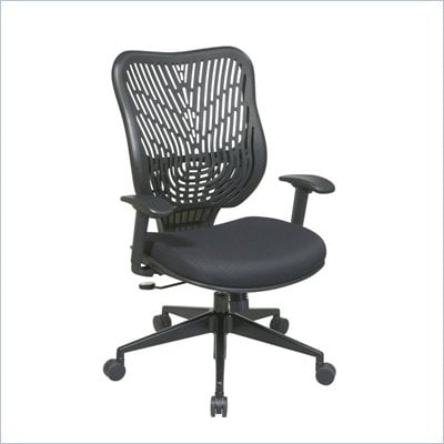 Office Star SPACE EPICC SpaceFlex Back Executive Chair in Raven