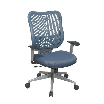 Office Star SPACE EPICC SpaceFlex Back Executive Chair in Blue Mist