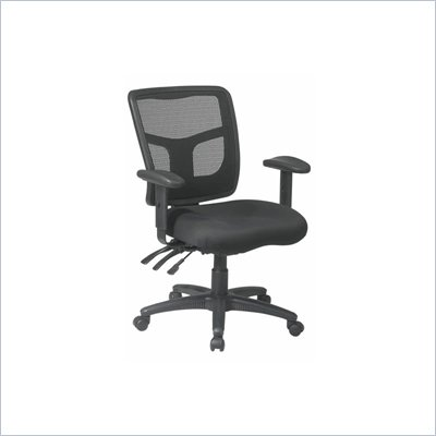 Office Star Pro Grid Back Managers Chair with 2-Way Adjustable Arms and Dual Function