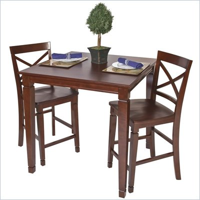 Office Star Concord Pub Table in Merlot