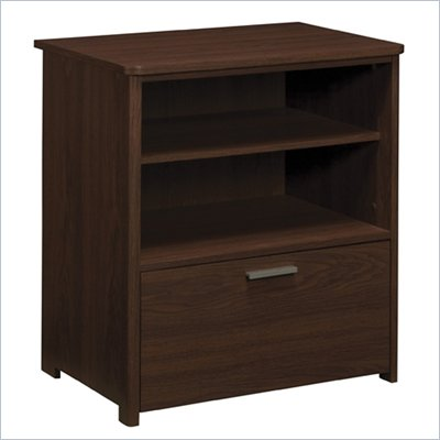 Office Star Concord Wood Filing Cabinet in Pinot Finish