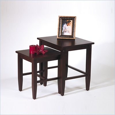 Office Star Espresso 2 Piece Nesting Table