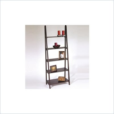 Office Star Espresso Ladder Bookcase