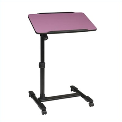 Office Star Adjustable Top Mobile Laptop Cart in Purple