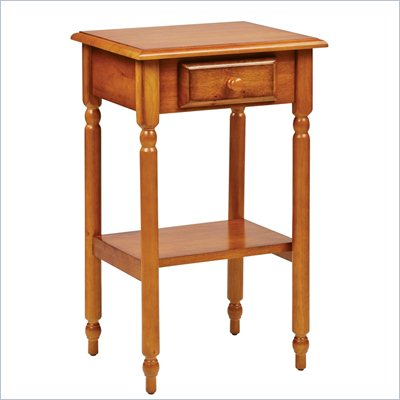 Office Star Knob Hill End Table in Antique Cherry