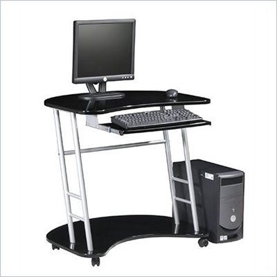 Office Star Kool Kolor Metal Computer Desk in Black