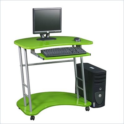 Office Star Kool Kolor Metal Computer Desk in Green 