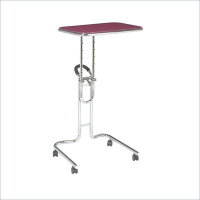 Office Star Lucent Laptop Stand in Pink Glass