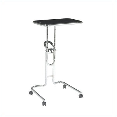 Office Star Lucent Laptop Stand in Black Glass